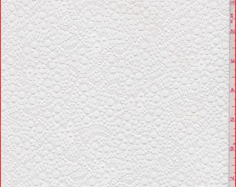 White Fine Eyelet Lace, Fabric By The Yard
