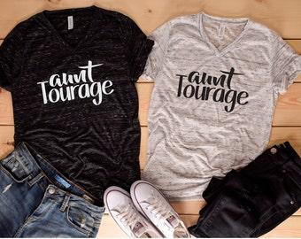 Aunt Tourage Shirt, New Aunt Shirt, New Aunt Gift, Aunt Tshirt, Best Aunt Shirt, Gift for Aunt, Aunt Vneck Shirt, Baby Announcements