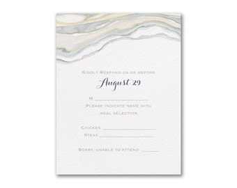 RSVP Wedding Response Cards, Watercolor Sandstone Wedding RSVP Cards, Envelopes Included