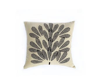 Bohemian Decorative Pillow, throw pillow, mud cloth home decor cushion couch bed block print toss Pillow organic cotton - TREE PILLOW COVER