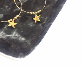 "Earrings ""Stella"" gold filled and vermeil"