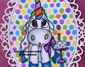 2059 Birthday Unicorn Digi Stamp