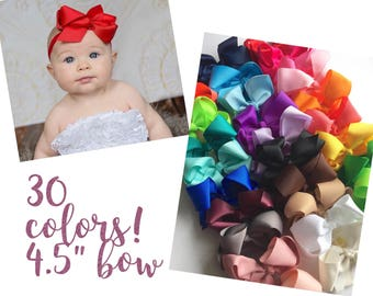 CLEARANCE  Baby headbands, you pick 1, 4.5 inch bow, ribbon headband, Infant headbands, baby headband, baby gift, girl gift, wholesale bows