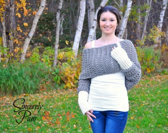 Warm Hug Shrug Crochet Pattern pdf
