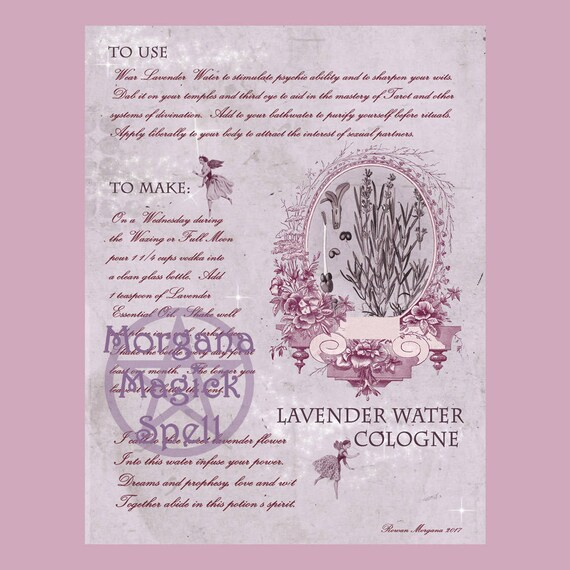 Lavender Water Cologne & Label Sheet