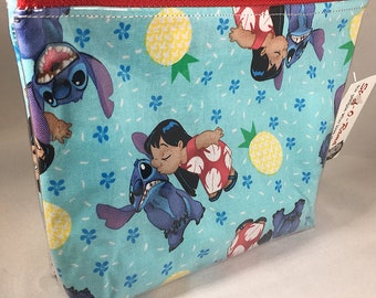 Make Up - Bag Lilo and Stitch Pineapple Zipper Pouch