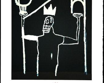 JEAN-MICHEL BASQUIAT - Untitled - original lithograph on Arches paper - c1997 - rare (Basquiat Estate/Enrico Navarra Gallery, Paris)