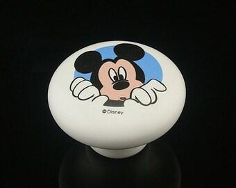 Children Drawer Knobs Pulls Handles Disney Cartoon Ceramic Cabinet Knobs Handle Kids Dresser Knobs Baby Nursery Kid Room Decorative Knobs