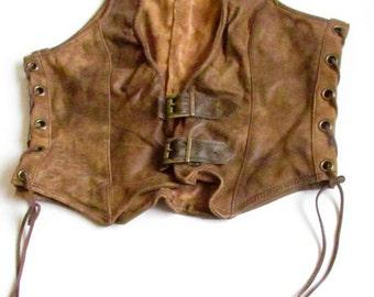 Leather vest / Womens leather vest / brown lether vest / Brown Stylish Leather Women Vest / Brown Leather Vest