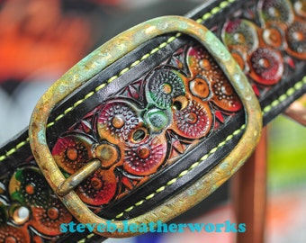 "Belt 2 - the Stu- a 2"" wide custom leather belt - Unisex, Mens or Ladies Custom Handmade Leather Belt"