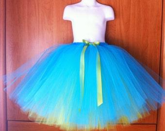The Avery - Mid Length Reversible Tulle Skirt - Sewn Tutu Skirt - half poof ballet style tutu - Made to order - Flower girl, Photo prop