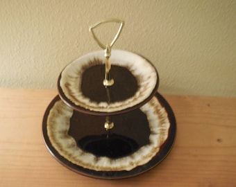 PFALTZGRAFF Two Tier Brown Drip Cake Stand Cookie stand Candy Stand