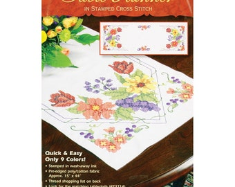 Dimensions Stamped Cross Stitch - Flowers & Berries Table Runner
