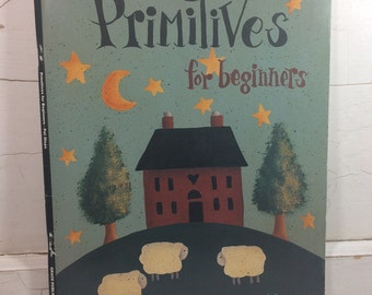 Pat Olson Primitives For Beginners Craft Book, Folk Art Painting, Learn How to Paint