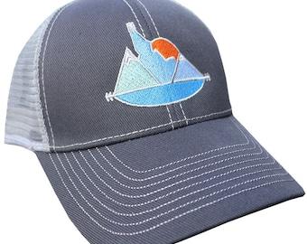 Idaho Sunset Adjustable Mesh Hat
