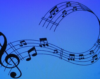 Vinyl Musical Notes Wall Decal / Music Wall Decal