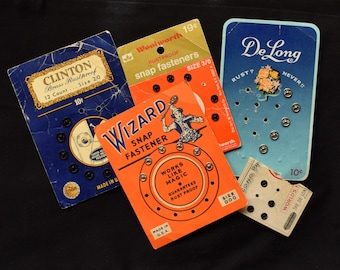 Lot of Vintage Snaps Sewing Notions