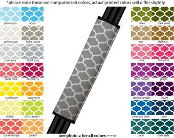 Seat Belt Cover // AUTO PAD // Car Accessories // seat belt pad - Moroccan Trellis- Pick Your Own Color - Custom seatbelt Quatrefoil