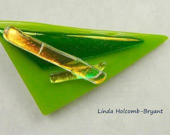 SALE Fused Glass Fuchia Barrette