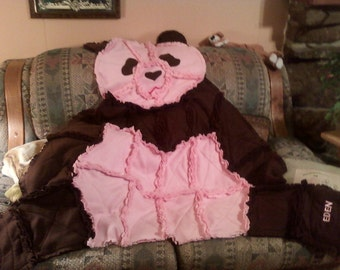 Panda Bear Throw can be made in any color combination