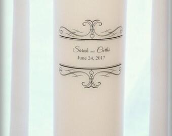 Unity Candle Set, personalized, wedding candles, weddings, wedding decorations, filigree