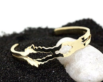 I Love You sound wave bracelet/wrist cuff - soundwave jewelry