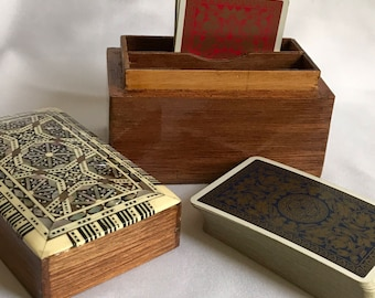 A Card Box with Two Packs of Cards