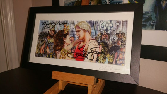 Double Autogrphed Flash Gordon - Gordon is Alive!  Print Signed by Sam Jones and Melody Anderson