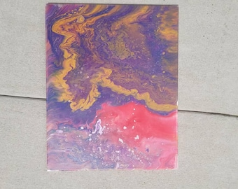 "Large (16""x20) Acrylic Abstract Fluid Painting"