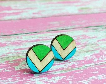 Vegan flag earrings//Vegan earrings/Laser cut earrings/WoodenEarrings