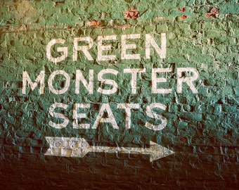 Green Monster Seats - Fenway Park - Boston Red Sox - Boston Art - Baseball Decor - Red Sox - Fine Art Photography