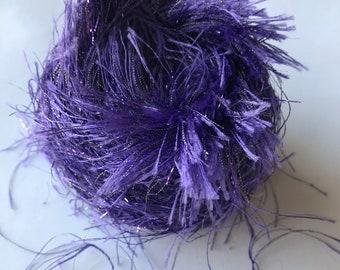 Eyelash Yarn -- Mystery Purple Eyelash