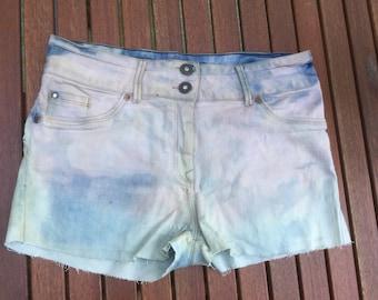 Pink to blue denim Shorts size 14
