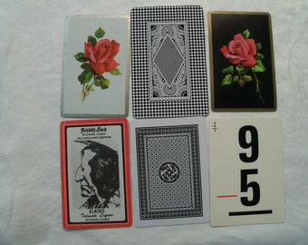 12 Playing cards, Black and White Playing cards, Antique Playing Cards, Vintage Playing Cards, Playing card Swap