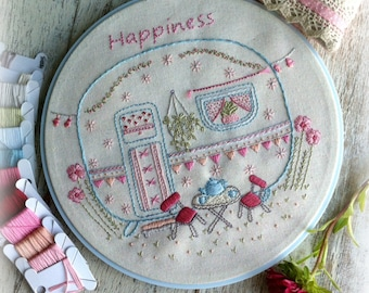 little caravan embroidery pattern PDF