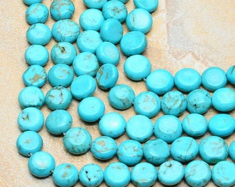 8 pearls button Turquoise 8x8mm