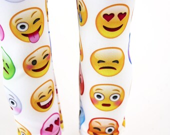 Fits like American Girl Doll Clothes - Emoticon Leggings   18 Inch Doll Clothes