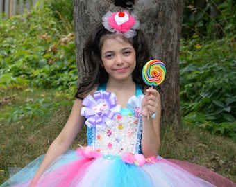 Candy land tutu dress, pageant OOC theme wear tutu, candy land birthday  party dress