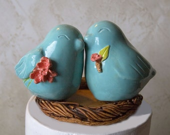 Love Birds with Bouquet and Boutonniere