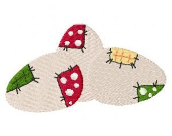 Patchwork Eggs Machine Embroidery Design