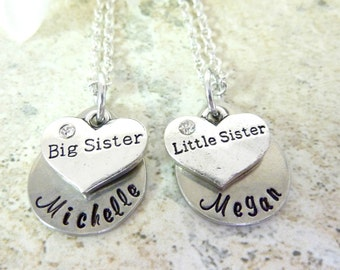 Sisters Necklaces Big Sister Little Sister Necklace Set Sister Necklace Set Personalized Jewelry Necklace for Sisters
