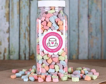 Unicorn Poop Marshmallows, Unicorn Marshmallows, Deyhdrated Marshmallow Shapes, Mini Marshmallows, Rainbow Marshmallows, Marshmallow Topping