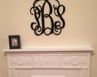 Wooden Monogram Initials, Wall Hanging, Nursery Decor, Wood Monogram Painted Wooden Letters 24 Inch,Wooden Wall Decor, Monogram Door Hanging