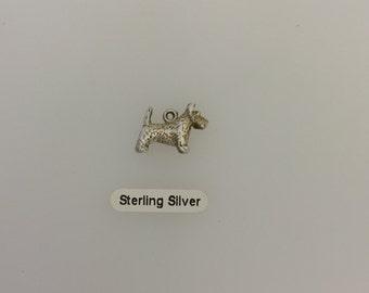 Sterling Silver Scotish Terrior Dog Charm