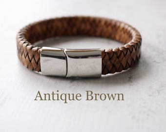 Mens Jewelry - Mens Leather Bracelet