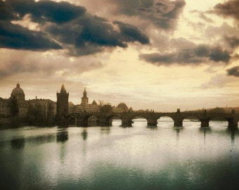 The Charles Bridge, Prague Photography, Prague Sunset, Fine Art Photography, Prague Photo , Urban Photography, Fine Art Photography