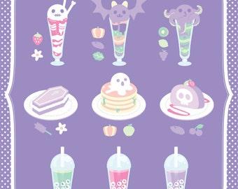 Cafe Fantome A4 Shimmery Art Print