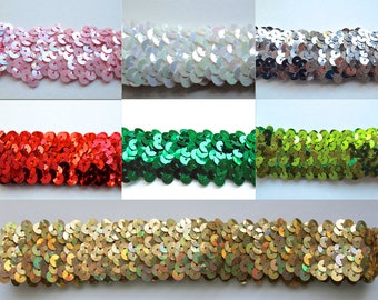 Stretch Sequin Headband available in 7 Colors