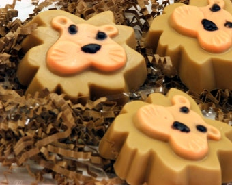 Set of 10 Lightheart Lion Soap Safari Zoo Animal Kids Party Favors  Fun Girl Boy Gift