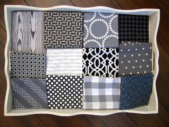 Boys Black, White & Grey 32x32 Minky Blanket Made to Order
